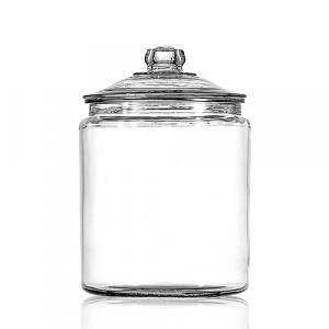 glazen potten met deksel