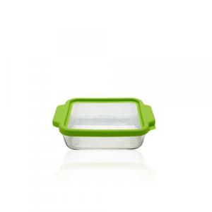 Frisches Lebensmittelbehälterglas TrueFit grün, 2 l.