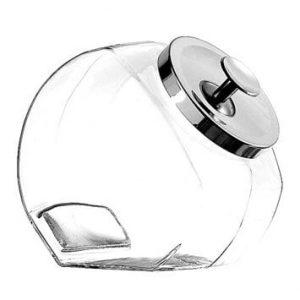 penny noeppot 4 liter glas met chrome deksel