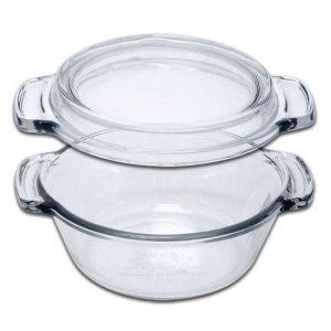 glazen ovenschaal met deksel, ovenschaal, glas