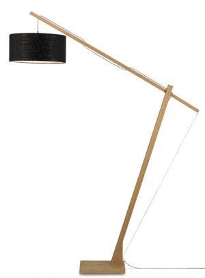 vloer lamp good mojo montblanc bamboe linnen productfoto damiware webshop