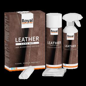 Textiel beschermset Microfiber Reiniging plus Bescherming Leather Care Kit Royal