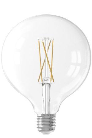 LED volglas LangFilament Globelamp 220-240V 6W 500lm E27 Ø12.5 2300K Dimbaar Calex